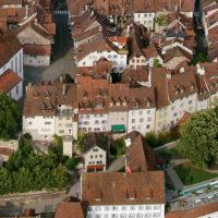 Aarau Altstadt Luftaufnahme