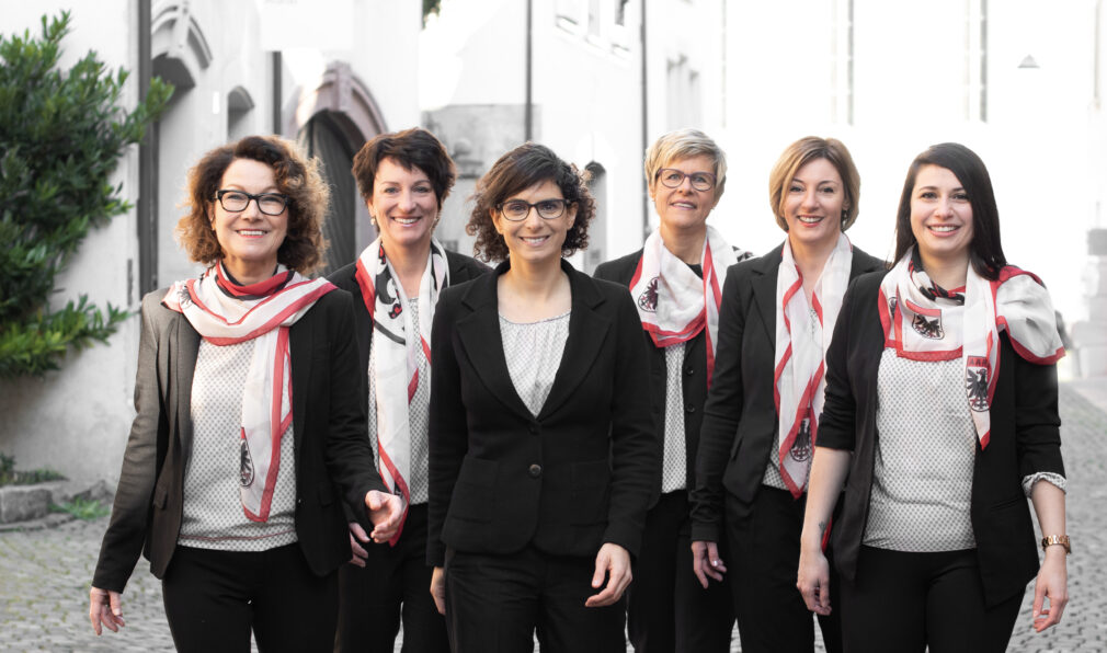 v.l.: Agnes Henz, Irene Brantschen, Danièle Turkier, Corinne Huser, Corinne Gubler, Flavia Barbato